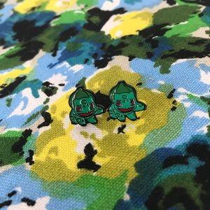 Pokémon Bulbasaur earrings - never worn!