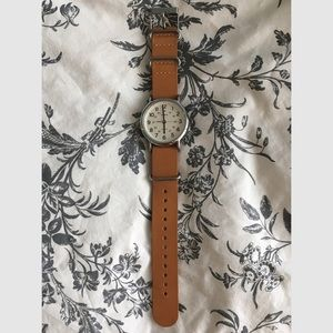 NWOT Timex Watch with Camel Leather Band