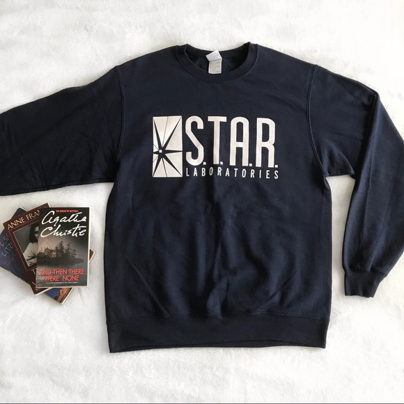 1d957e21e Sweaters | The Flash Star Labs Navy Crew Neck Sweater Merch | Poshmark