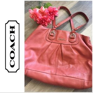 Coach Leather Coral Satchel Shoulder Purse