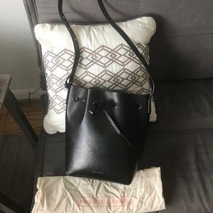 Mansur Gavriel Mini Bucket Bag Black/Argento