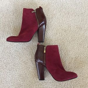 Halogen Burgundy booties