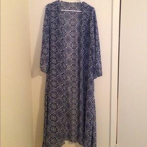 XL Sheer duster kimono