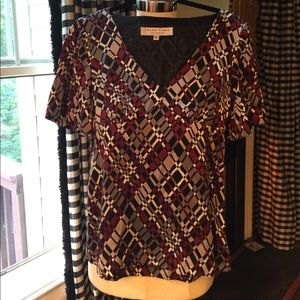 **Trina Turk** geometric style blouse