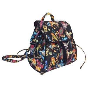 Vintage 100% silk Nicole miller backpack