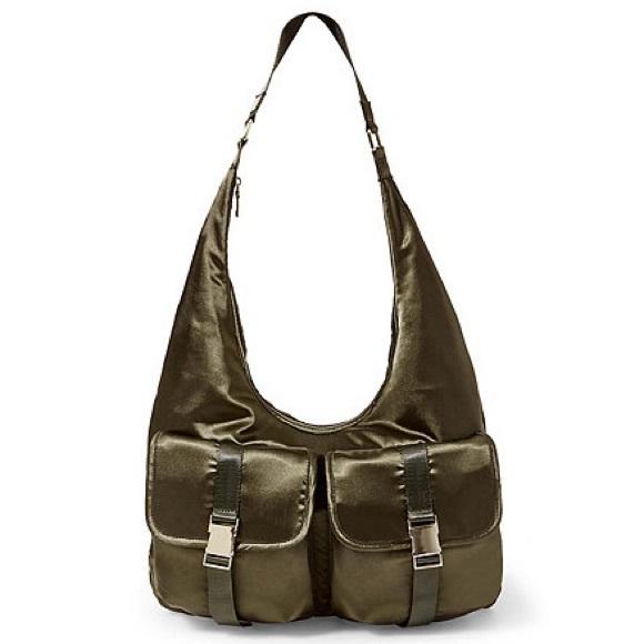 Steve Madden Olive Satin Hobo Bag 0d38600aadb06