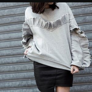Storets Ruffled Oversized Sweater