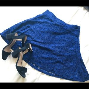 Navy Blue Lace Skirt (M)