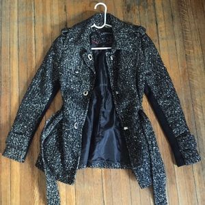 Women's Express belted wool-blend coat, size XS