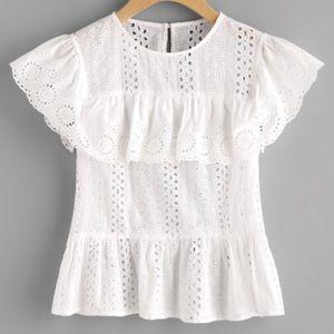 Tops - Ruffle lace shirt