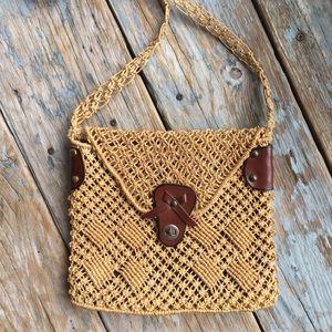 Vintage woven Straw Bag