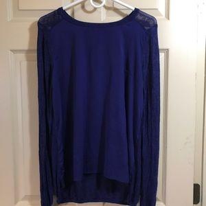 Royal Blue Medium H&M top.  Longer in back