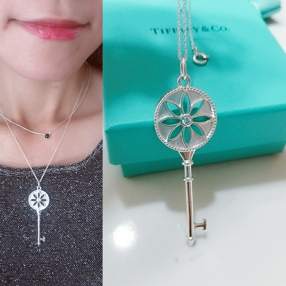 6aedb28a9 Tiffany & Co. Jewelry | Tiffany Diamond Daisy Key Pendant 18 ...