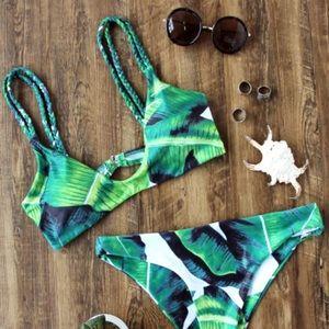 Other - Tropical print braided bikini