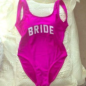 Other - Fuchsia Bride one piece swim suit