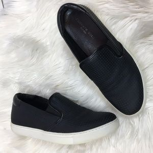 Kenneth Cole Kerry Perforated black slip ons