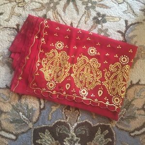 Dresses & Skirts - Red and Gold Sari