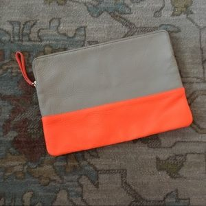 Gap Large Leather Pouch Clutch