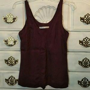 Trina Turk Silk Blouse Tank Top Shirt Purple Small