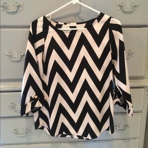 Black/white Everly Blouse