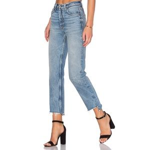 Grlfrnd Denim Helena High Rise Straight Jeans 25