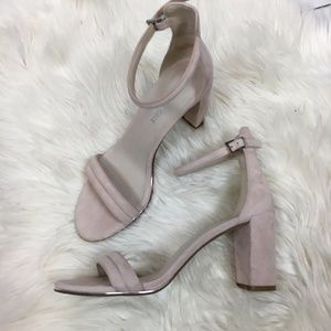 Kenneth Cole Lex blush block heels ankle strap