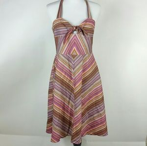 Trina Turk halter dress size 12 diagonal stripe