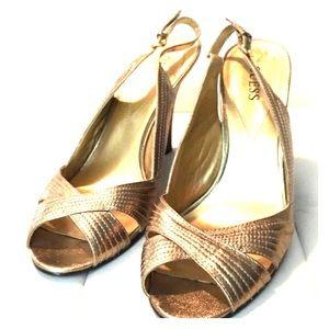 Vintage inspired gold wedges