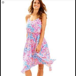 Lilly Pulitzer Dominica Hankerchief Hem Dress