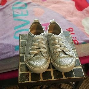 Other - Silver sparkle baby shoes