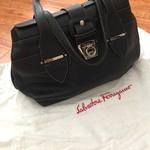 Salvatore Ferragamo Pebbled leather shoulder bag