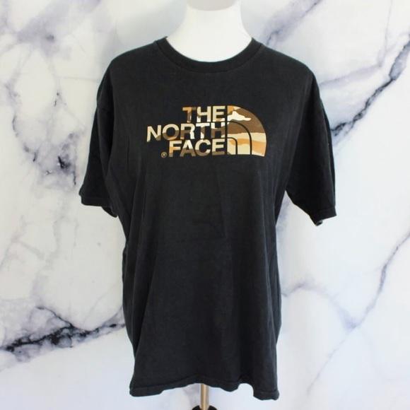 91d7b56b5 North Face Retro Desert Camo Logo Tshirt L