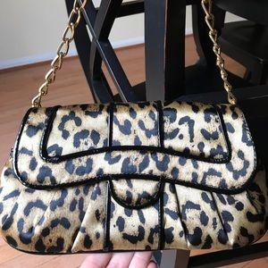 Leopard print evening bag
