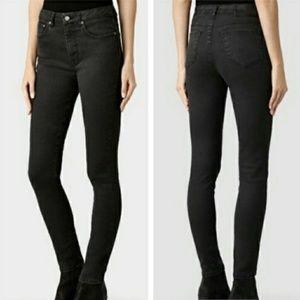 All Saints Stilt lacquer high rise skinny jeans