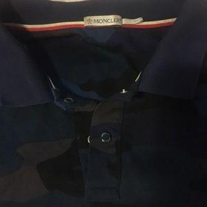 moncler blue camo polo