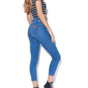 Wrangler Cropped Hi Pins Skinny Jeans Blue Dreamer