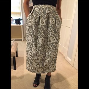 Midi skirt with lace print.  NWOT
