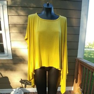 A'reve Mustard small/med loose asymetrical tunic