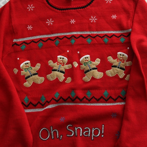 oh snap gingerbread men ugly christmas sweater