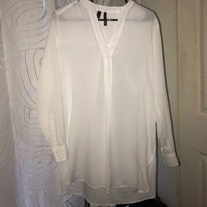 Mango - White Long Sleeve Tunic