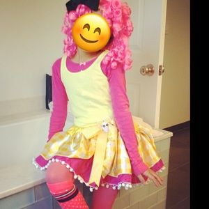 costumes lalaloopsy costume set skirt pink wig halloween