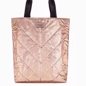 Victoria's Secret Rose Gold Tote Bag 2017