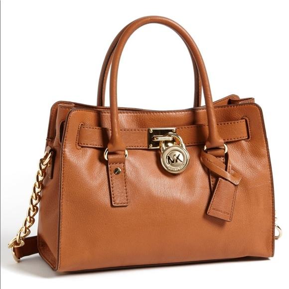 Michael Kors Hamilton bag middle size brown