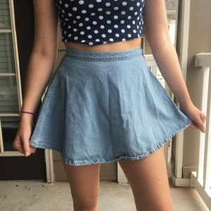American Apparel Denim Skirt in Medium Wash
