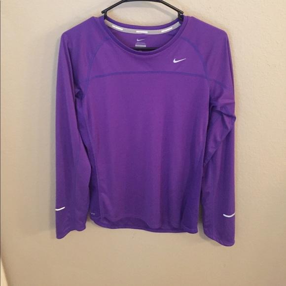 ad5bb760 Nike Tops | Purple Running Long Sleeve | Poshmark