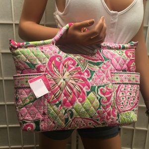 NWT Vera Bradley Gabi pink pouch bag
