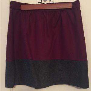 J.Crew Color-block Skirt - size 6