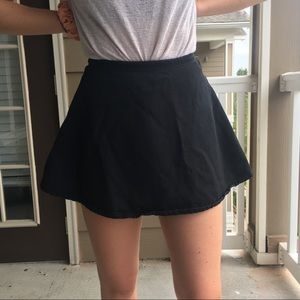 American Apparel Circle Skirt Black