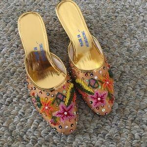 Vintage beaded slippers NWOT