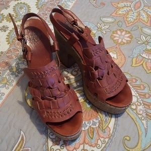 Lucky Brand Leather Platform Shoes